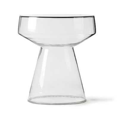 glass side table 39x39x42cm hk